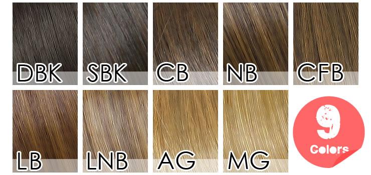 ぱっつんシャギー前髪ウィッグ[wgt011]カラーチャート001