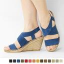 Calzanor - カルザノール - suede back strap Cross sandals ☆ ☆ **