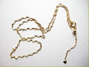 Beautiful work, such as an antique gold chain gold necklace ladies K18 Southern Cross Star スライドアジャ 45 cm