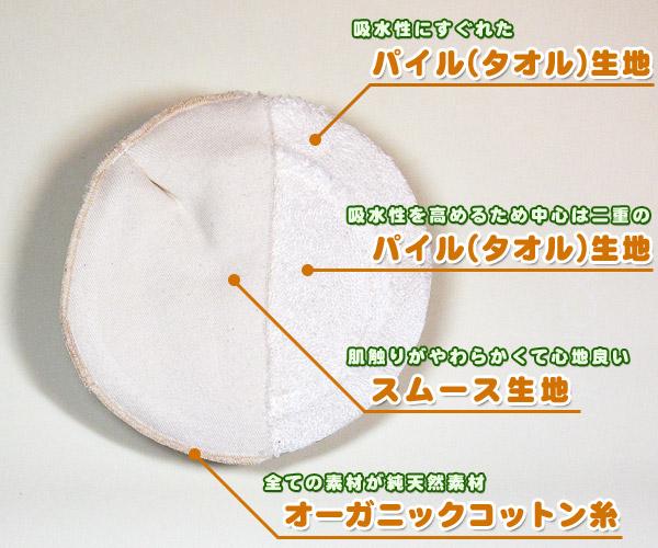 母乳パットの内部構造