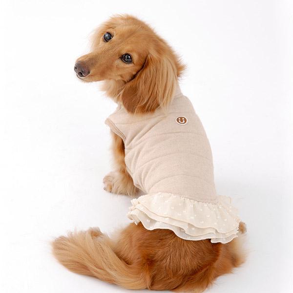 フリル付き中綿ベスト(ミュッターの犬の服)