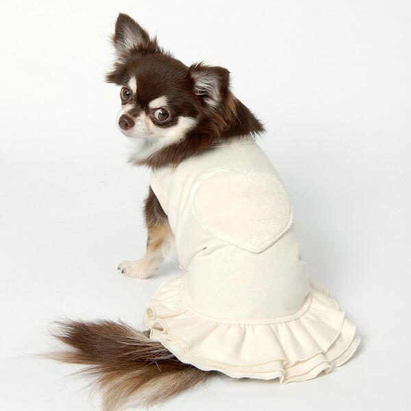 ミニ裏毛・スカート付きハートTシャツ(ミュッターの犬の服)