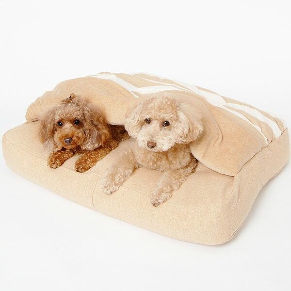 オーガニックコットンの犬用ベッド