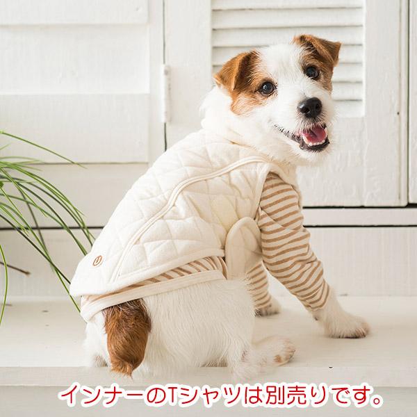 キルトボア襟コート