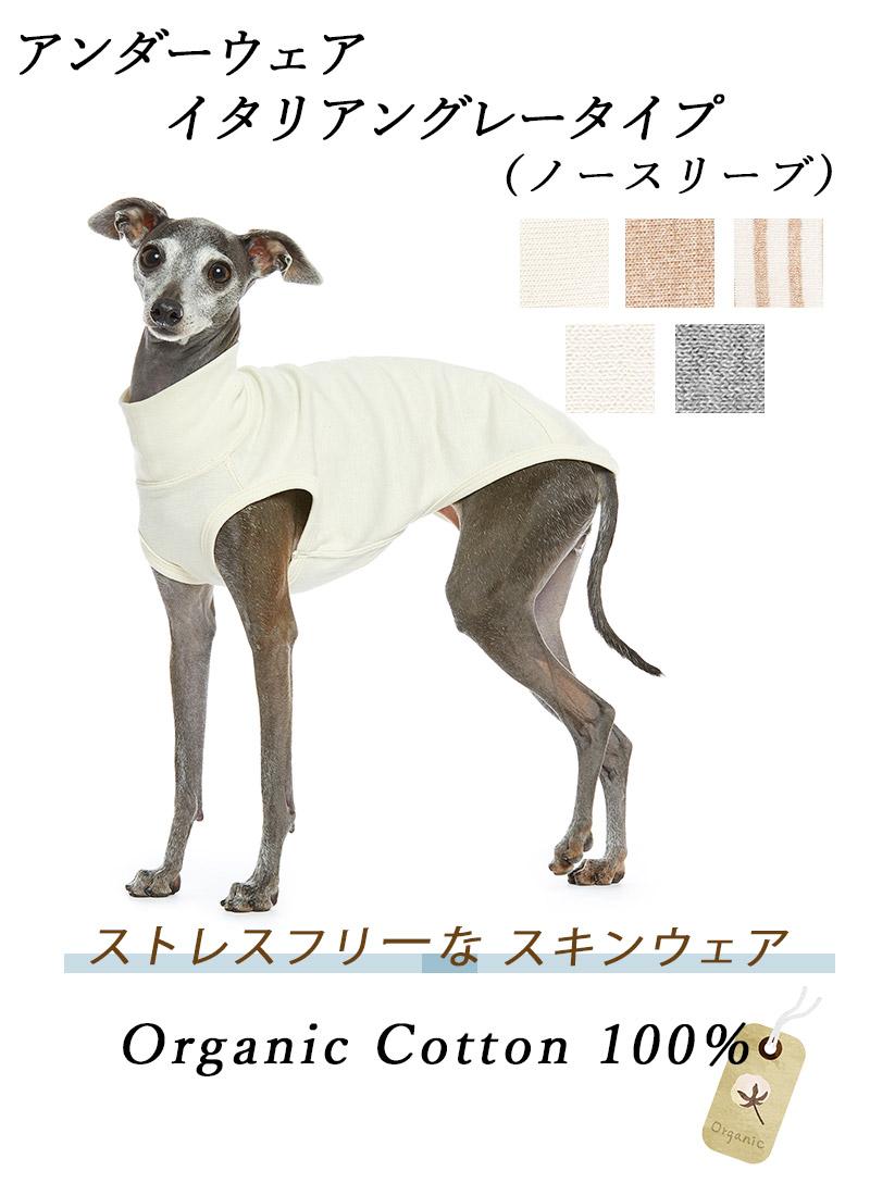 犬のアンダーウェア 肌着 イタグレ ノースリーブ