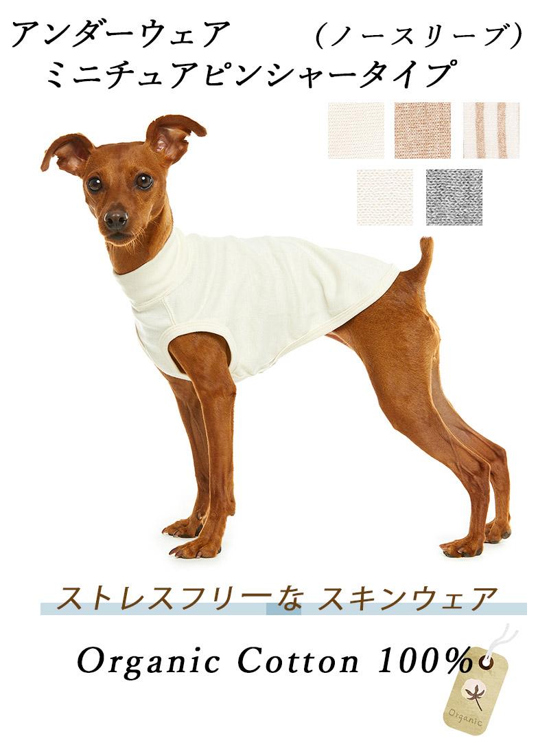 犬のアンダーウェア 肌着 ミニピン ノースリーブ