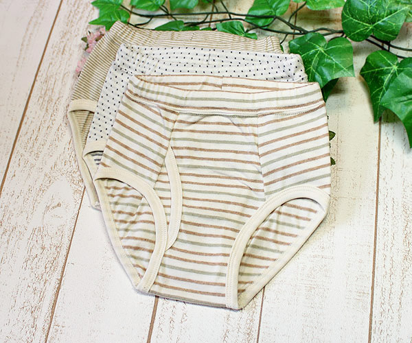 Briefs underwear of the child service organic cotton
