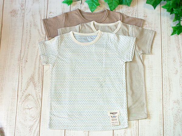 Child service organic cotton short sleeves T-shirt (underwear)