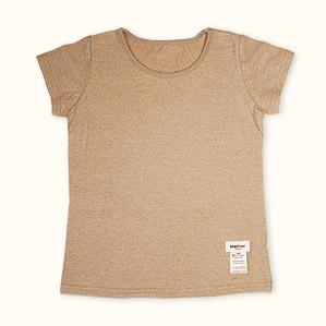 半袖肌着Tシャツ(ブラウン)