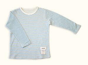 子供長袖肌着Tシャツ(ブルー)