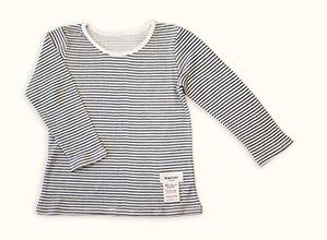 子供長袖肌着Tシャツ(ブラック)