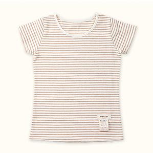 子供半袖肌着Tシャツ(ブラウン)