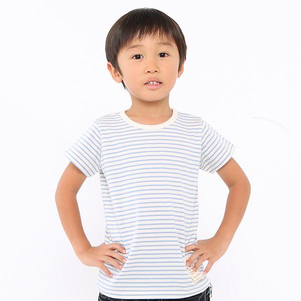 キッズ用オーガニックコットンの半袖肌着Tシャツ