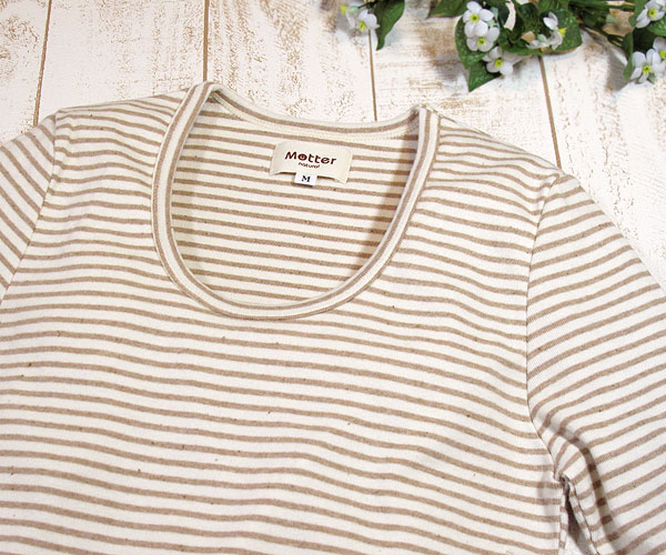 オーガニックコットンの長袖Tシャツ