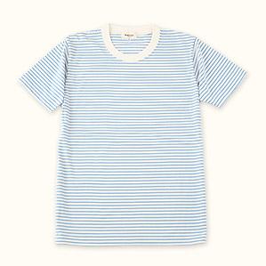 メンズ半袖Tシャツ(ブルー)