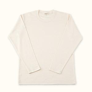 メンズ長袖Tシャツ(きなり)