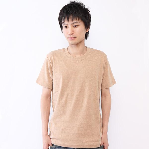 メンズ用オーガニックコットンの半袖Tシャツ
