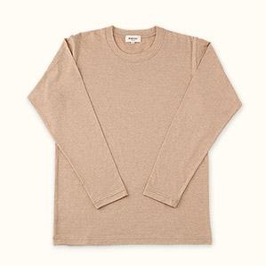 メンズ長袖Tシャツ(ブラウン)