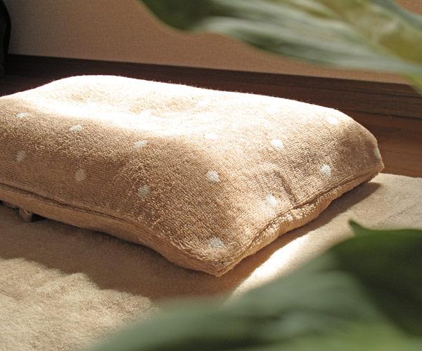 オーガニックのタオル生地枕カバー