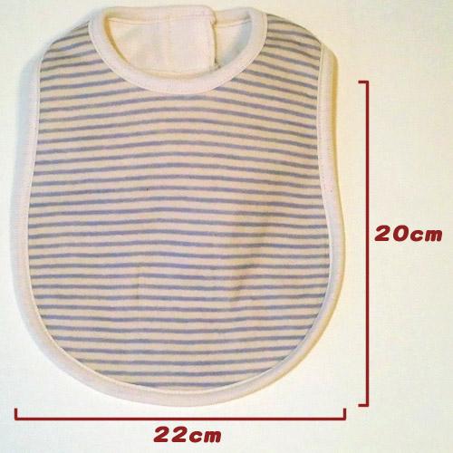 オーガニックコットン製スタイのサイズ