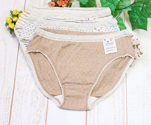 Standard panties of the organic cotton for Lady's