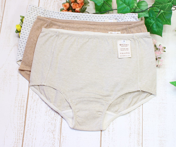 深 ばき panties of the organic cotton for Lady's