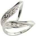 Hawaiian jewelry pairing wedding ring marriage ring platinum diamond pt900 hand-carving Hawaii Ann ring wedding jewelry Lady's men handmade white day white day