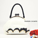 tsumori chisato tsumori chisato pouch bag cat wave embroidery bag black black cat animal cat white back velvet velour