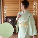 It is shipment on the washing same day on a day of the Toray material street clothes shop original kimono (unlined clothes) Edo-dyed clothe, Chinese phoenix Tang grass (powdered green tea-colored / M, large size) wedding ceremony banquet abbreviation for