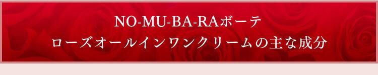 NO-MU-BA-RAボーテローズオールインワンクリームの主な成分