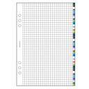System Organizer refills A5 squared white