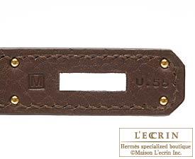 エルメス バーキン35 テール フィヨルド ゴールド金具