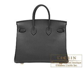 Hermes Birkin bag 25 Black Togo leather Gold hardware