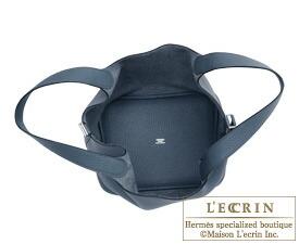 Hermes Birkin bag 30 Blue orage Clemence leather Silver hardware