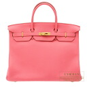 Hermes Birkin bag 40 Rose Lipstick Togo leather Gold hardware