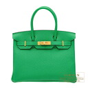 Hermes Birkin bag 30 Bambou Togo leather Gold hardware