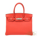 Hermes Birkin 30 rougepivowannu slope silver fittings
