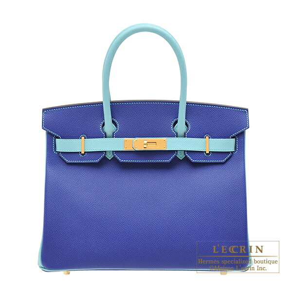 Hermes��Personal Birkin bag 30��Blue electric/Blue atoll��Epsom leather��Gold hardware