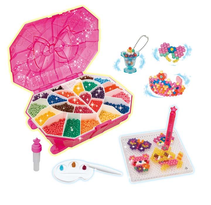 【ビーズ遊びおもちゃ女の子向けアクセサリー作り手作り遊び水でくっつくビーズ【取