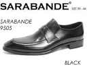 9505 SARABANDE sarabande BLACK real leather business shoes double Monk strap leather shoes semi-long hair noses