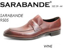 9505 SARABANDE sarabande BLACK real leather business shoes penny loafers leather shoes semi-long hair noses