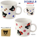 Double B bear and baby girl ☆ stoneware mug