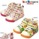 upup7 ホットビスケッツ マルチチェック & dot ☆ second baby shoes ( 13-14.5cm )