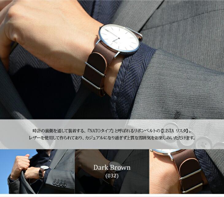 時計の裏側と通して装着するNATO TYPE