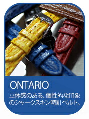シャークスキン交換用時計バンドONTARIO(オンタリオ)
