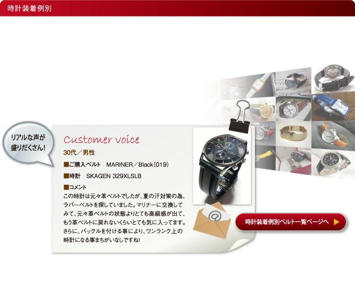 お客さまからの装着事例を基に、時計ベルトを探す。