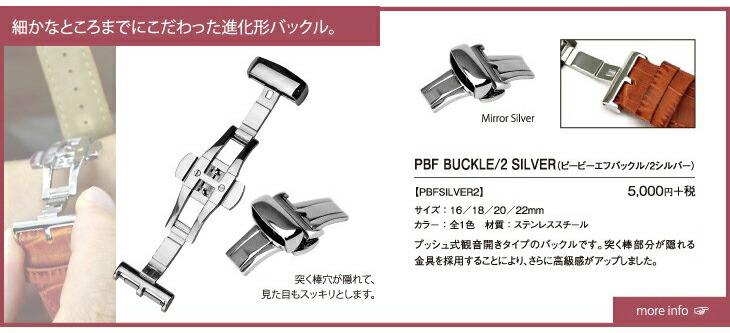 PBF BUCKLE/2 SILVER