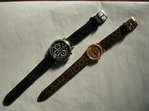 時計ベルトをモレラートのCIELOとTRACYに交換したCorum $10時計とChopard 1000 Miglla 1999