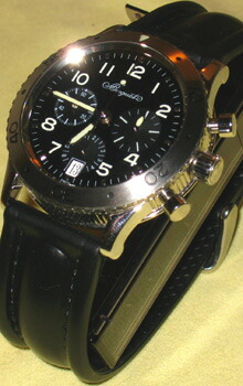 時計ベルトをモレラートのCAYMANに交換したreguet Transatlantique TypeXX