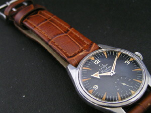 時計ベルトをモレラートのボテロに交換したオメガ Ranchero Cal.267